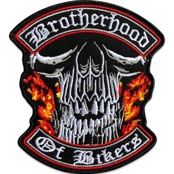 dödskalle brotherhood of bikers - tygmärke