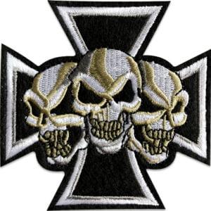 malteserkors tre skallar - tygmärke