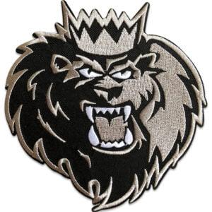 lejon med krona - tygmärke