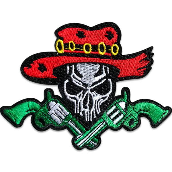 dödskalle mexiko - tygmärke