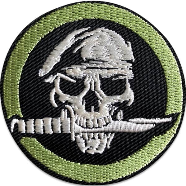 dödskalle soldat emblem - tygmärke