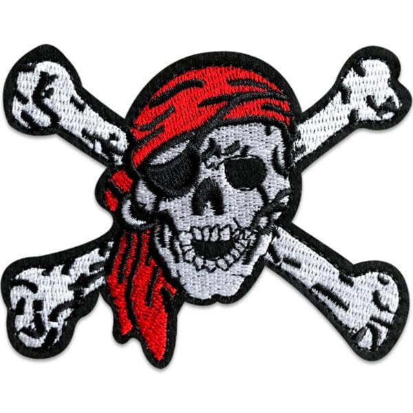 dödskalle pirat - tygmärke