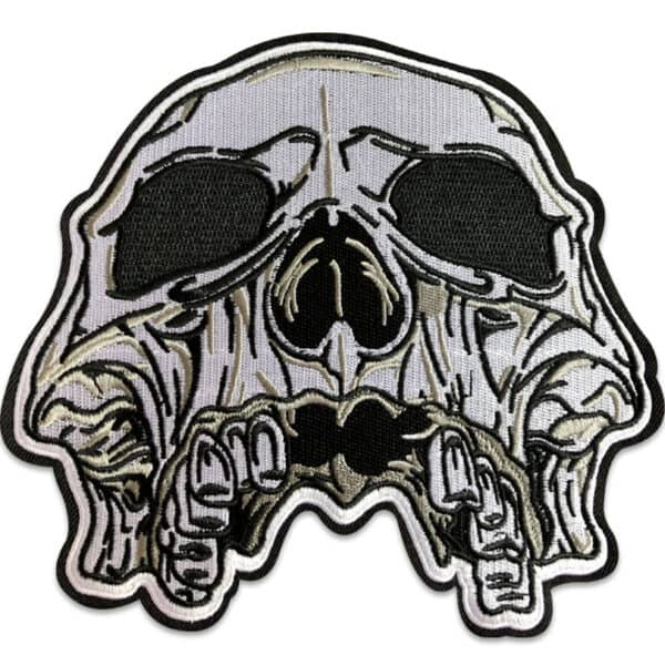 Dödskalle Doom - stort tygmärke