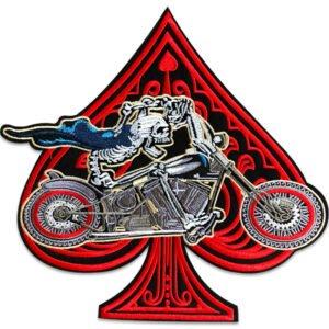 motorcykel spader ryggmärke - tygmärke