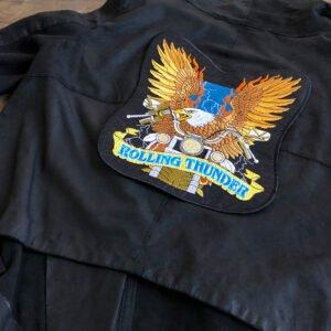 örn motorcykel ryggmärke - tygmärke för läderjacka