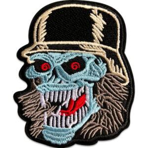 zombieskalle hjälm - tygmärke
