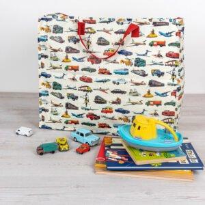 Stor förvaringsväska för barnens rum - fordon