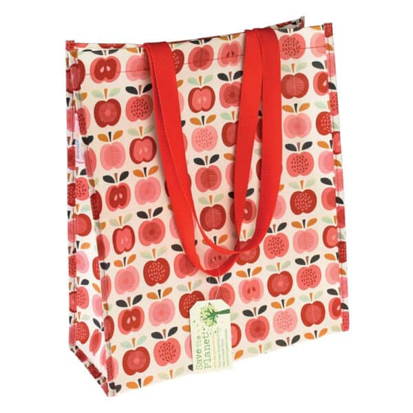 Shoppingpåse vintage - röda äpplen