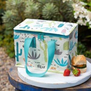 lunchväska med motiv på kaktusar