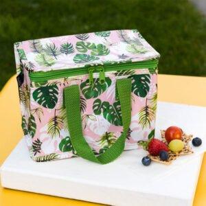 lunchväska med motiv på löv