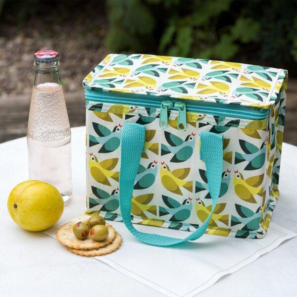 lunchväska med fågelmotiv