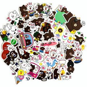 björn kanin - klistermärken
