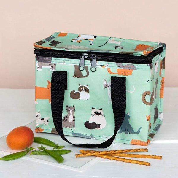 lunchväska med motiv på katter