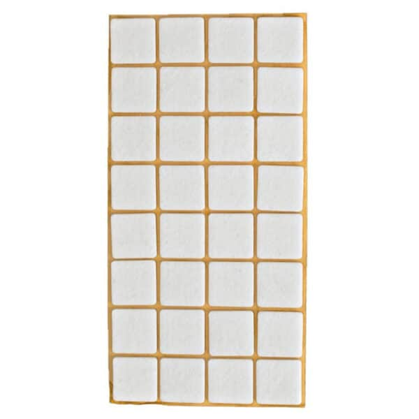 möbeltass vita fyrkantig 25x25 mm