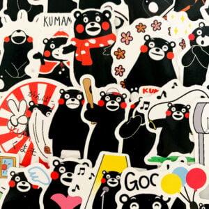 kawaii björn - klistermärken