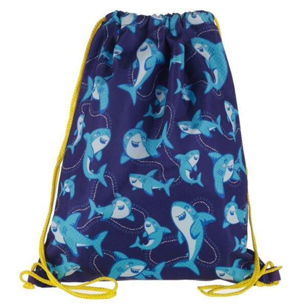 Gympapåse för barn - blå små hajar