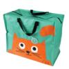 stor shopping bag - orange katt