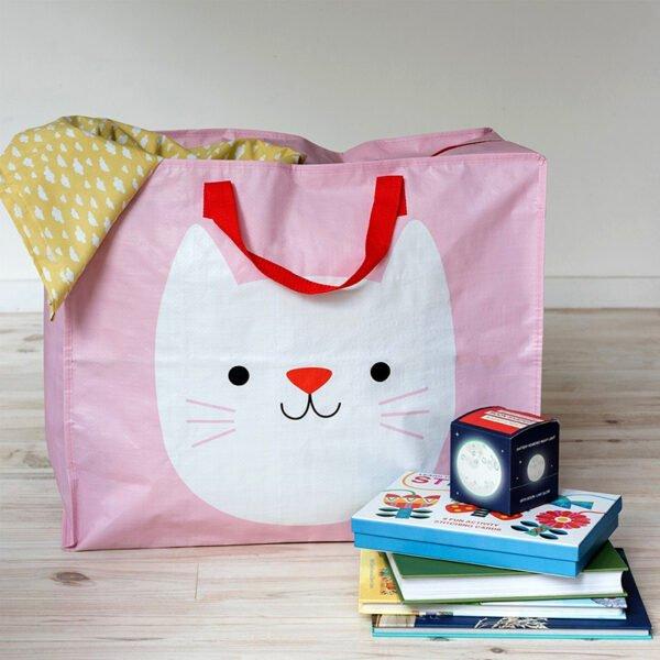 Stor förvaringsväska för barnens alla leksaker och böcker
