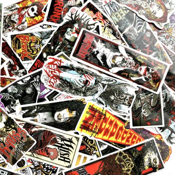 Klistermärken motiv musik band film och rock