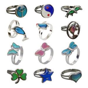 Alla humörringar - Ringar för barn som ändrar färg