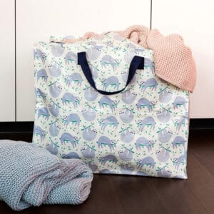 Förvaringsväska för plädar och täcken