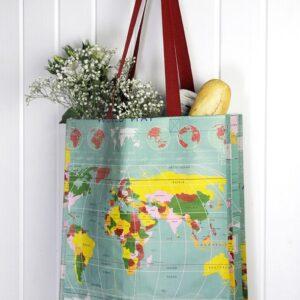 världskarta - shoppingpåse
