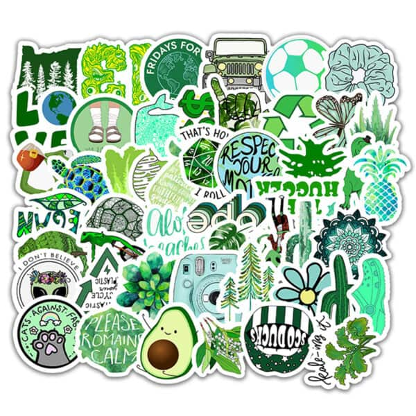 gröna klistermärken