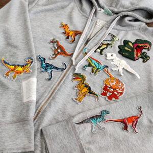 dinosaurier tröja - tygmärken