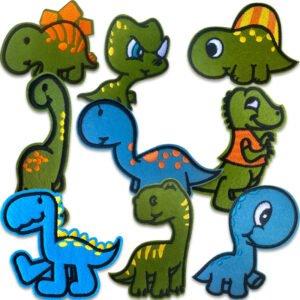 söta dinosaurier tygmärken