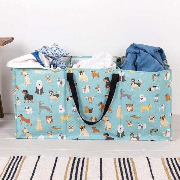 Stor väska för tvätt med 3 fack