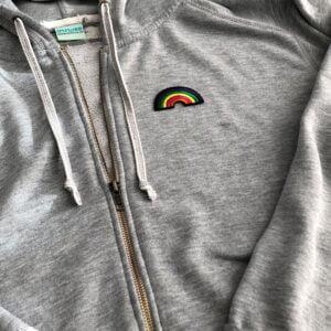 regnbåge färger tröja tygmärke