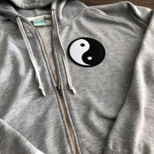 yin yang tröja tygmärke