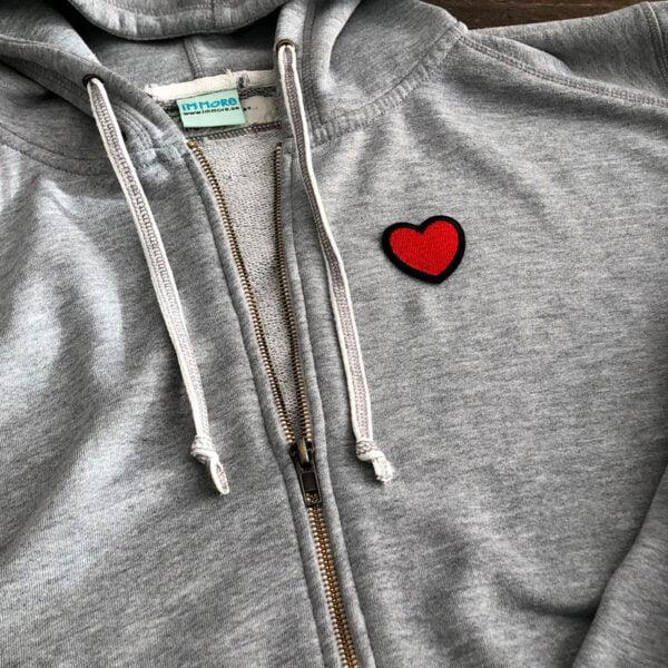 hjärta tröja tygmärke