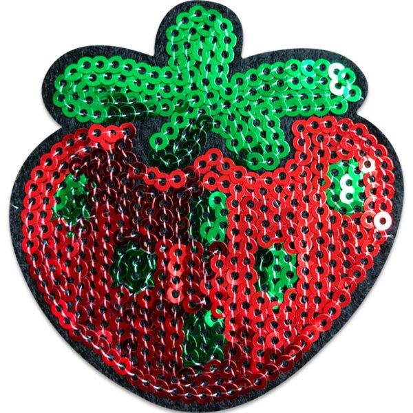jordgubbe paljetter tygmärke