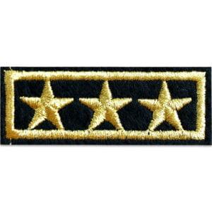 militärbeteckning tygmärke tre stjärnor