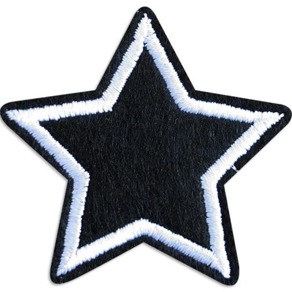 svart stjärna tygmärke