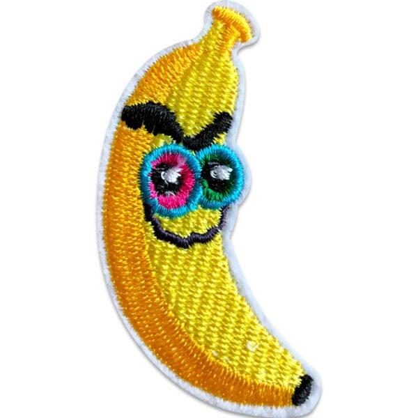 tygmärke småtokig banan med ögon