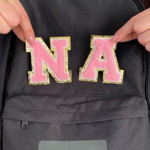 påstrykbara bokstäver märkning ryggsäck