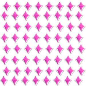 Små rosa dekorationer - tygmärke - små rutor