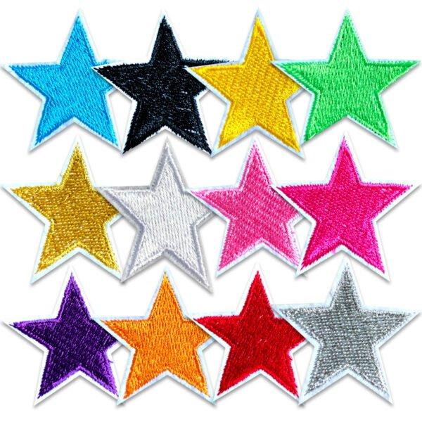 12-pack stjärnor stryka-på