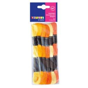 broderigarn gul orange