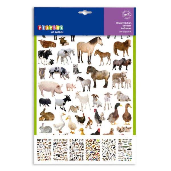 stickers djur ark