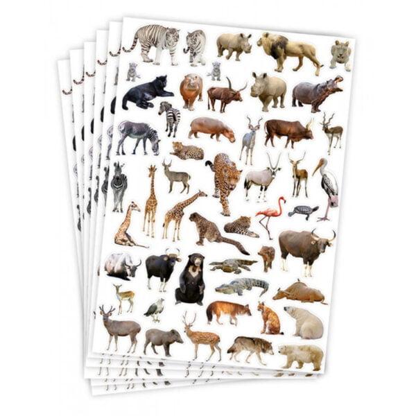 vilda djur klistermärken
