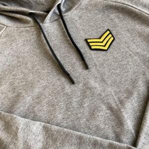 gradbeteckning militär tygmärke tröja