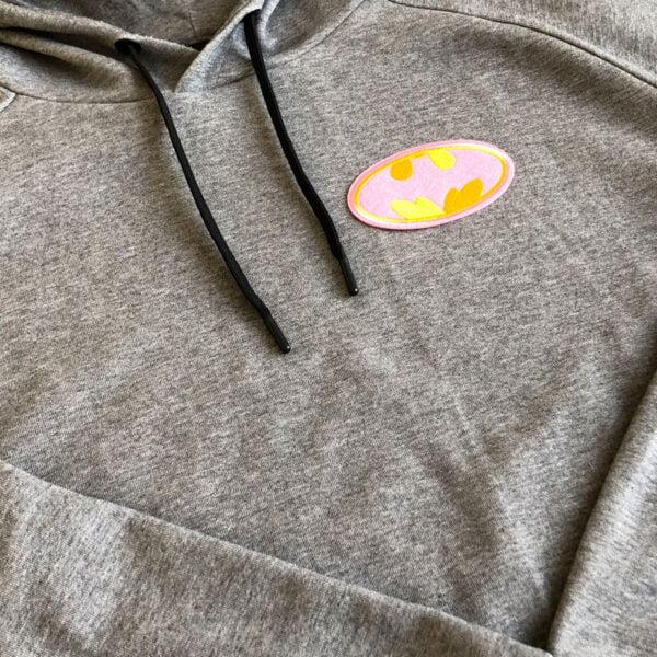 batman rosa tygmärke tröja
