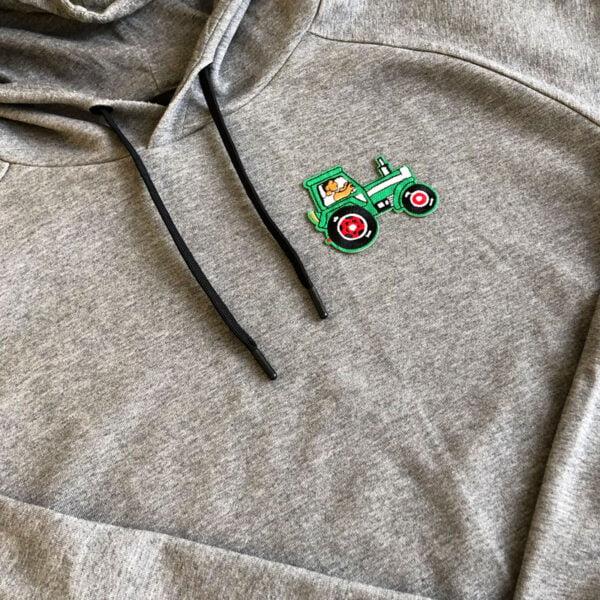 grön traktor tygmärke tröja