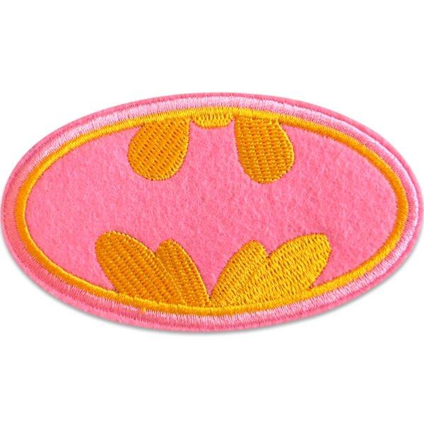 Batwoman bordyrmärke i rosa