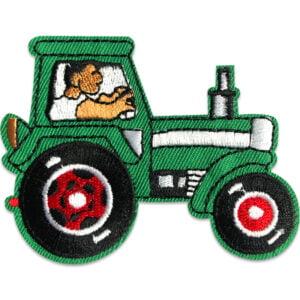 Brodyrmärke för barn - Grön traktor