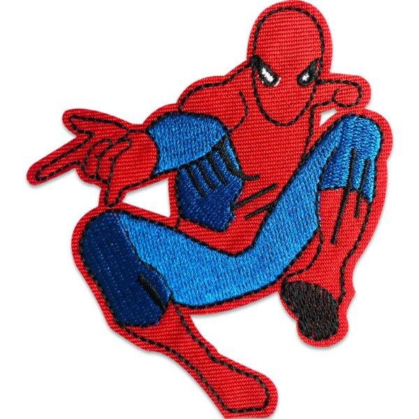 Spindelmannen svingar - tygmärke för kläder