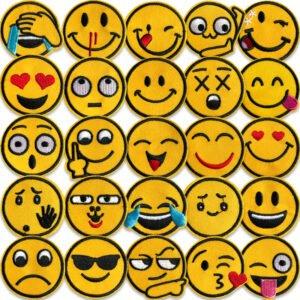 smileys tygmärken - Maxipack 27 brodyrmärken